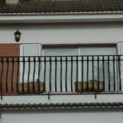 Detall Barana balcó amb forja