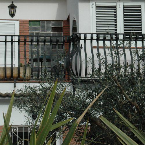 Barana balcó amb forja